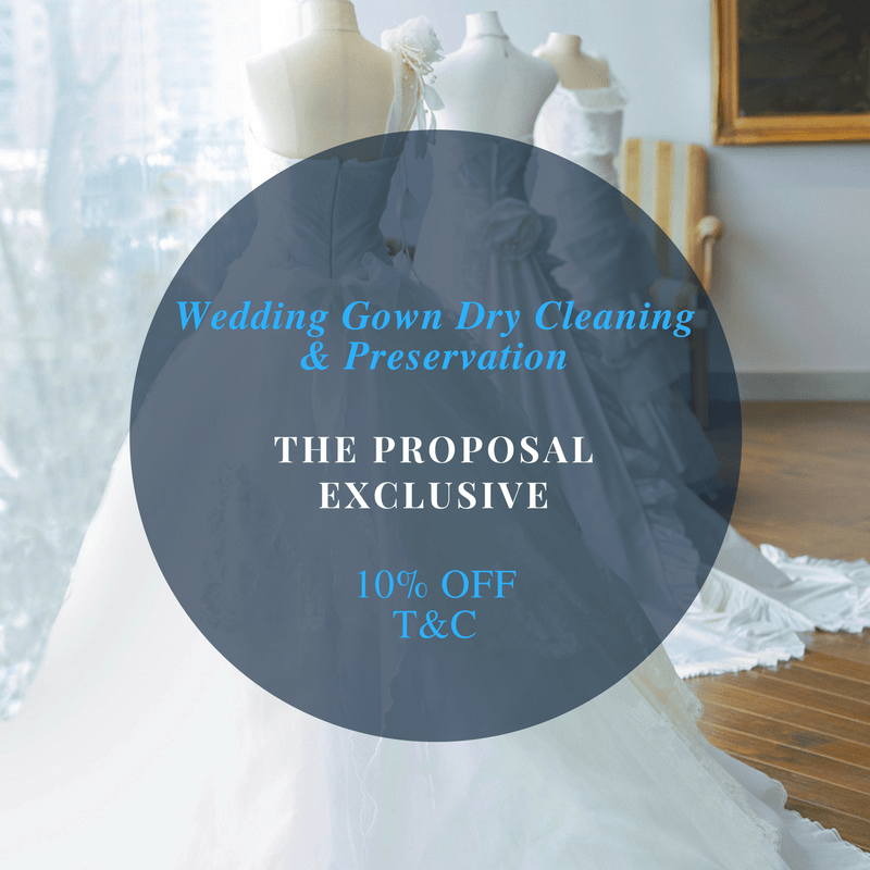 Exclusive 10% Off The Proposal Bridal Gown Cleaning